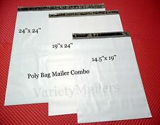 36 Poly Bag Mailer Variety Pack 24x24 19x24 145x19 Large Shipping Bags
