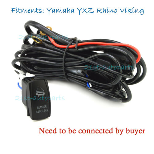 "40A 2LEG Wiring harness w// /""Bumper Light Bar/"" Switch For Yamaha YXZ Rhino Viking"
