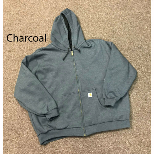 J149 Carhartt Men/'s Thermal Lined Hooded Zip Front Sweatshirt Several Colors NEW