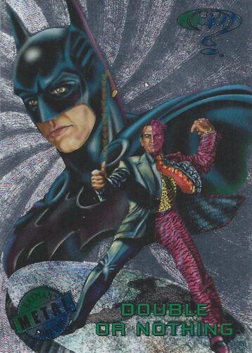 1995 Fleer Metal Batman Forever Silver Flasher Parallel You Pick Finish Your Set