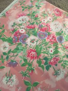 Waverly-Summer-Meadow-Fabric-5-Yd-54-Pink-Floral-Home-Decor-Craft-Open-House-USA