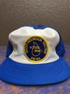 bb821f645d4 Rocky Mountain Section AWWA Men s Blue Mesh SnapBack Baseball Cap ...