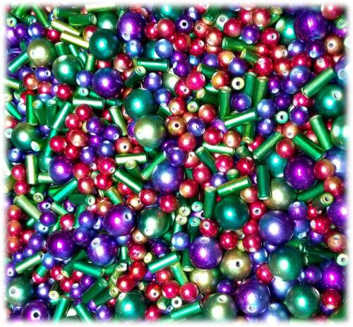 40 irisierende acryl Perlen Mix 8-20 mm spotpainting Fädelloch ca 1-2 mm