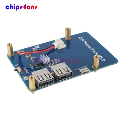 Lithium Battery PowerPack USB Dual Output Expansion Board for Raspberry Pi3