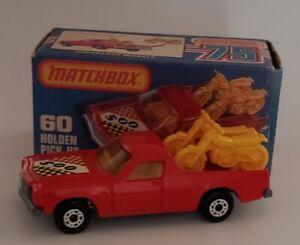 1977-Lesney-Matchbox-Superfast-Holden-PIckup-60-w-Original-Box