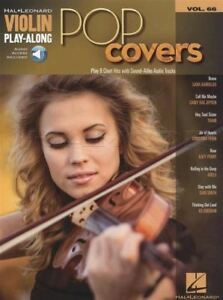 Details about Pop Covers Violin Play-Along Sheet Music Book with Audio  Train Adele Ed Sheeran