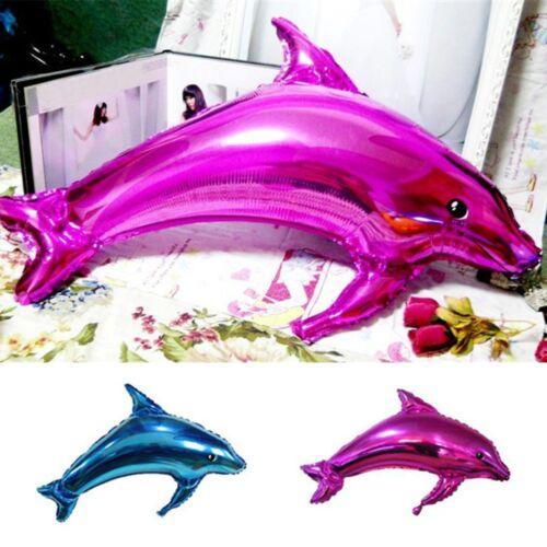 Cute Dolphin Aluminum Foil Balloons Wedding Birthday Ocean Sea Party Decoration
