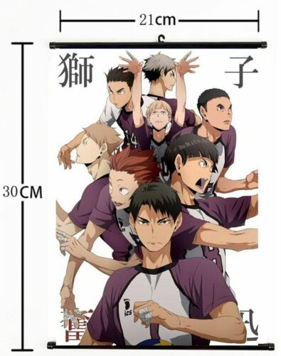 1079 Haikyuu high school volleyball Wall Poster Scroll Home Decor Cosplay A