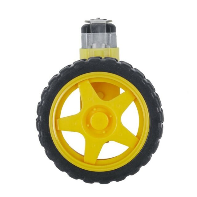 1:48 Pneumatic Tire Wheel with DC 3-6V Gear Motor for Arduino Smart Car Rob X1D5