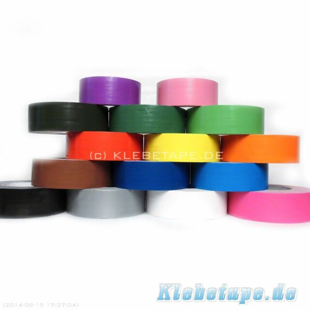 Gewebeband 25mm x 50m Gaffa Tape Panzerband Hochwertiges Klebeband Farbig