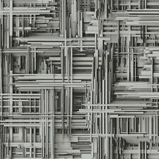 Carta Da Parati P+S TIMES 42098-30 geometrica Design 3D argento grigio metallico