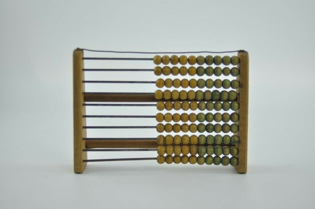 Antique 100 beads Wooden Frame Abacus 19 Century
