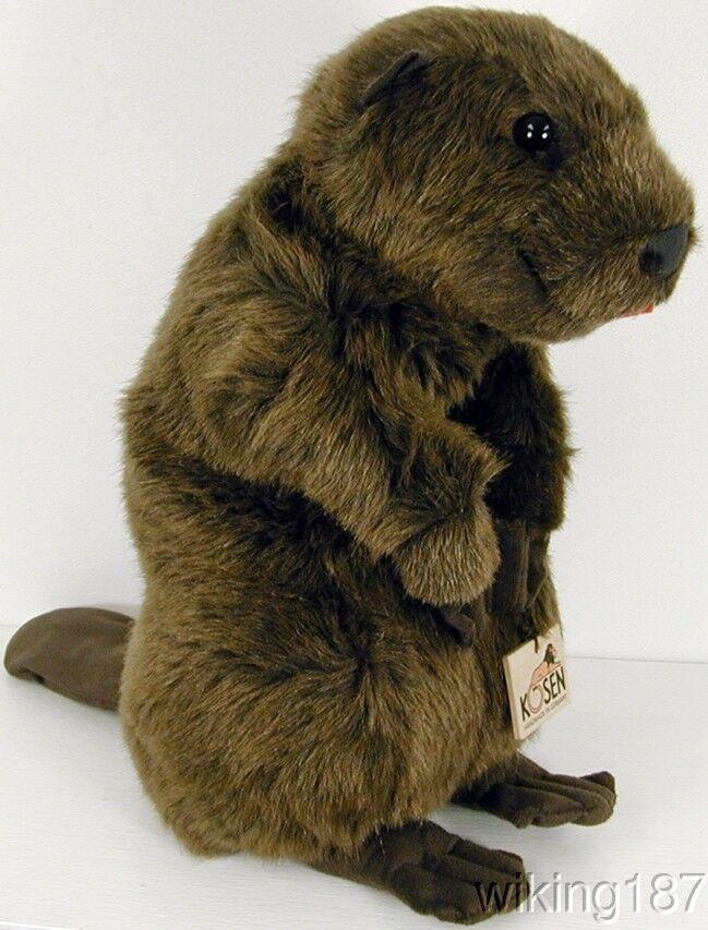 KOSEN Made in Germany NEW Standing Beaver Plush Toy