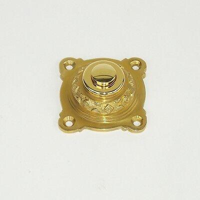 Messing Tür Antikladl Klingel 1 Gründerzeit Brass Door Bell Türklingel K1P