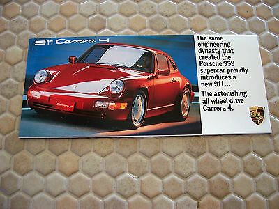 PORSCHE OFFICIAL 968 COUPE CABRIOLET PRESTIGE SALES BROCHURE 1993 USA EDITION