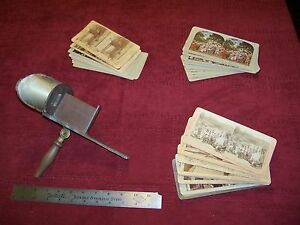 Antique 3D Card Viewer with Lot of Cards