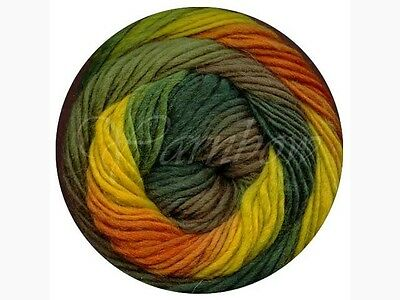 Viking of Norway ::Odin #834:: 100% Superwash wool 40% OFF! Green-Yellow-Orange