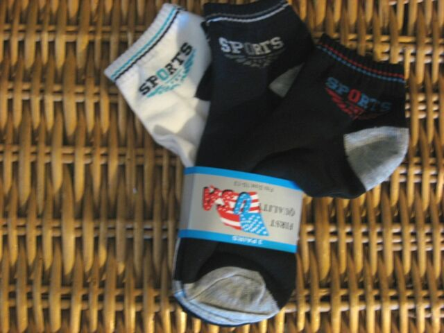 3 Pair Mens SPORTS Athletic performance socks Cotton Blend 10-12 solid