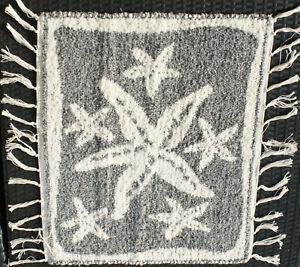 Teppich-Badteppich-gewebt-Seestern-natur-grau-56-x-65-cm-Teppich-waschbar
