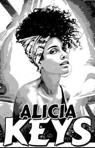 """ALICIA KEYS  11x17  /""""Black Light/"""" Poster"""