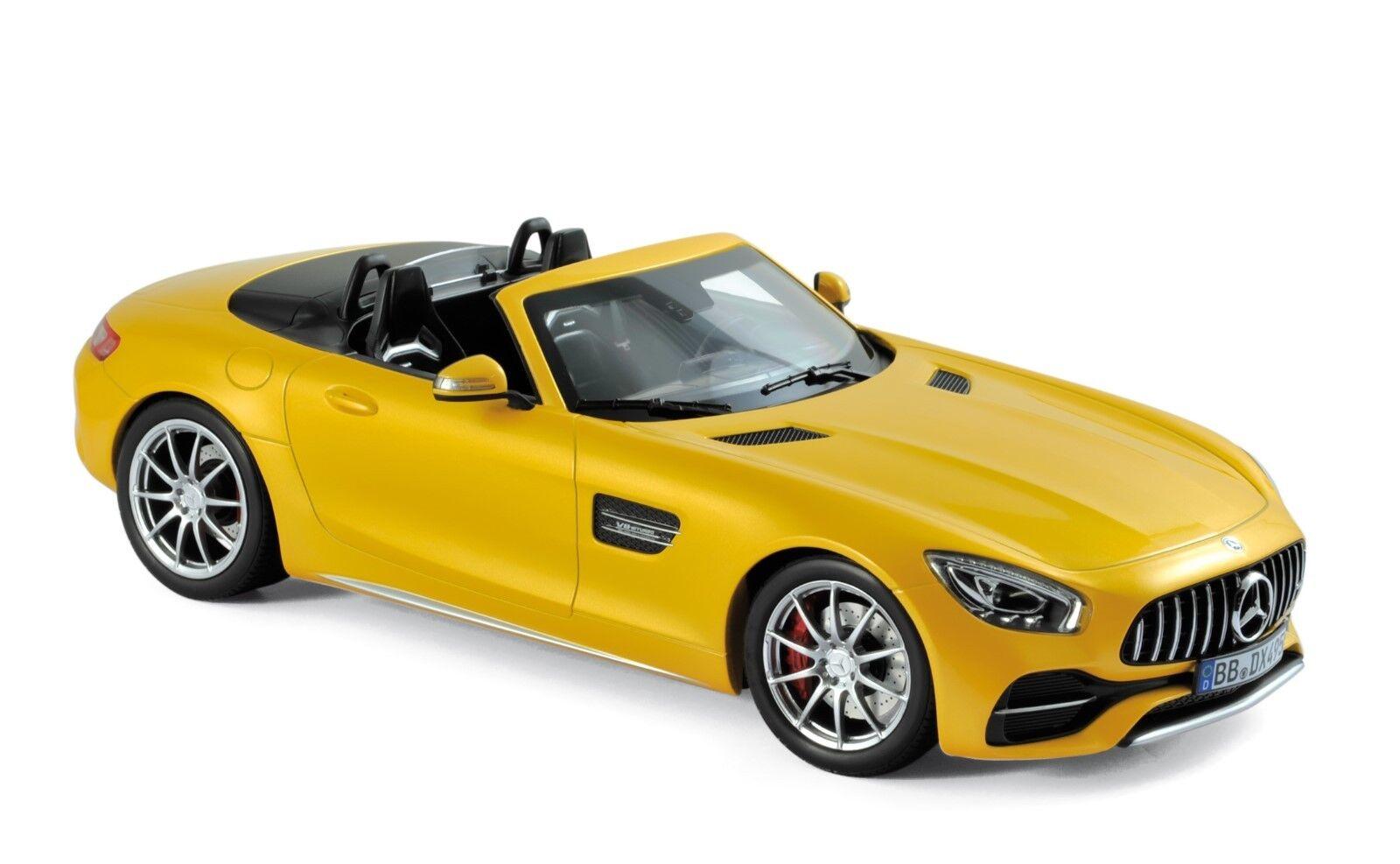 Mercedes AMG GT C roadster amarillo metalizado 1 18 norev 183451 nuevo & OVP