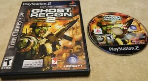 Tom-Clancy-039-s-Ghost-Recon-2-Sony-PlayStation-2-2004-Disc-Case-No-Book
