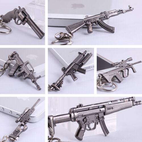 Cross Fire CF Mini Pistol AWM MP5 AUG A1 Submachine GUN Metal Keychains Keyrings