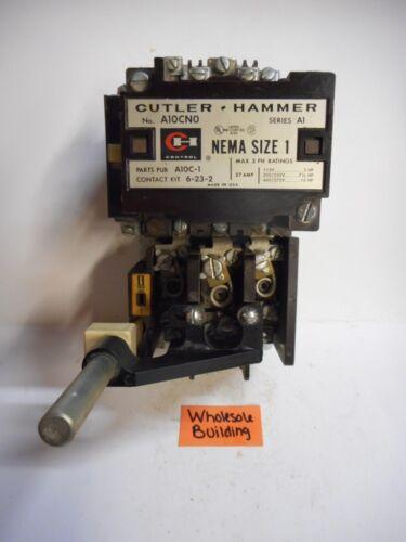 SIZE 1 A10CNO SERIES A1 27A MOTOR STARTER CUTLER-HAMMER