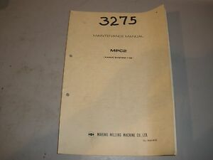 makino cnc mill maintenance manual for fanuc 11m control ebay rh ebay com