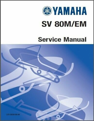 1988-1989-1990-1991 Yamaha Sno Scoot SV80 Snowmobile Service Manual on a CD