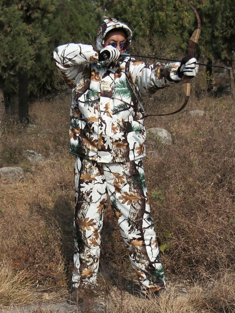 Winter Warm Fleece Suit Camo Suit Fleece Waterproof Snow Field Real Tree Hunting Clothing 7df2f6