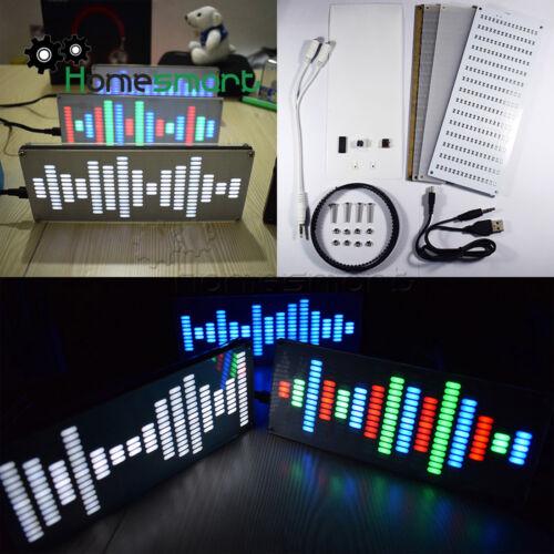 DIY Big Size 225 Segment LED Digital Music Spectrum Sound Waves KitAHS