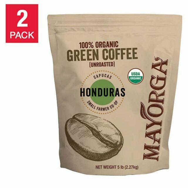 Usda Organic Mayorga Honduras Capucas Green Coffee Bean 5 Lb 4