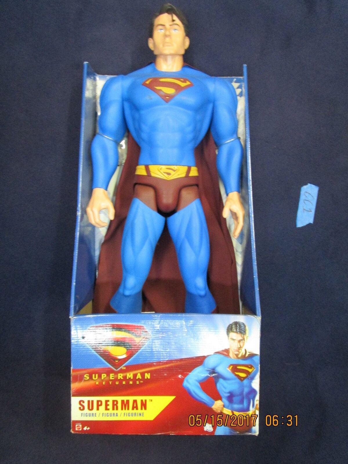 CC1_1_3 Mattel DC Movie Master Lot GIANT SUPERMAN RETURNS 30 INCH ACTION FIGURE