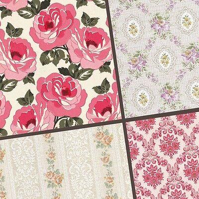 exclusive 40/ 20pc classic Vintage floral pattern scrapbook paper 4 design