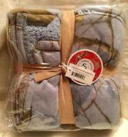 Realtree Apc Pique Fleece Sherpa Throw Blanket 50x60 - Blue Camouflage
