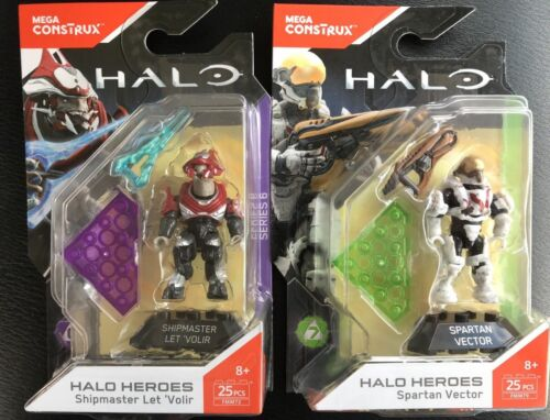 Mega Halo Heroes SERIES 7 Vector And Series 6 ShipMaster FMM72 /& FMM79