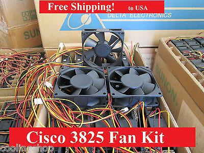 Cisco 3825 Router Fan1 1 new fan ACS-3825-FAN-1//2= Fan2 Replacement