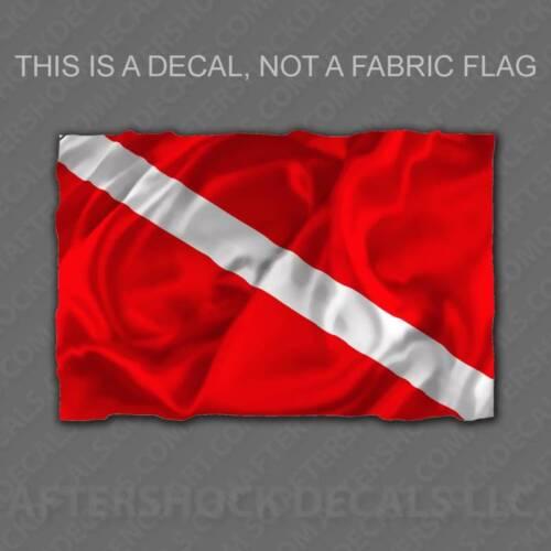 Nautical Shark Diving Boat Flag Sticker Dive Flag Decal