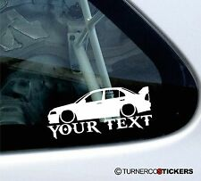 Custom Text ,LOW Mitsubishi Evo 5,6 lancer evolution (With spoiler) car Sticker