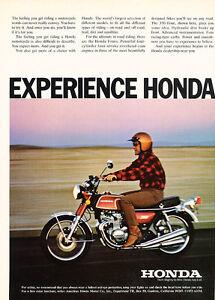Classic Vintage Advertisement Ad D55 Traffic 1974 Honda XL-350
