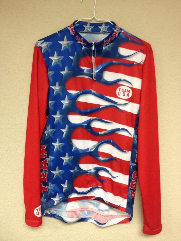 aa4306378 Primal Wear NWT Medium Size Jersey Cycling Sleeved Long USA Team ...