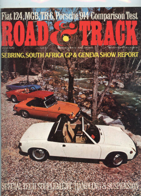 June 1970  Road & Track Magazine Convertible Cover