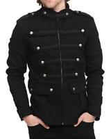 Uk Stock Mens Gothic Military Jacket Band SteamPunk Handmade Vintage Style Coat