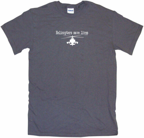 Helicopters Save Lives Kids Tee Shirt Boys Girls Unisex 2T-XL