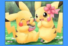 pokemon pikachu love Cake topper edible digital image icing A4 REAL FONDANT