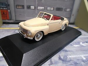 VOLVO-PV445-PV-445-Cabriolet-Valbo-beige-1953-Sonderpreis-IXO-White-Box-1-43