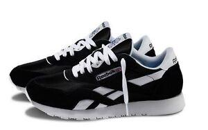 0d23e3dab4ad5 Reebok CLASSIC NYLON Black White Men s Running Shoes 6604 Fast ...