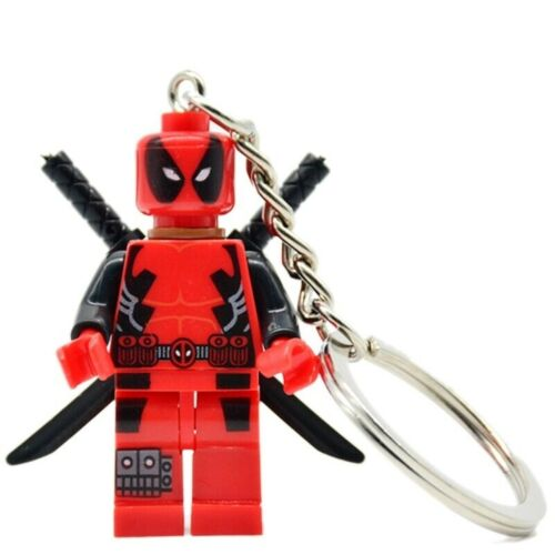HOT KEYCHAIN RING HANDMADE LIMITED DEADPOOL LEGO Moc C3P0 MR GOLD