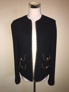 manches Goodman laine Veste en M et mélange Miss de or Bergdorf noir sans Miss xt51wqd10